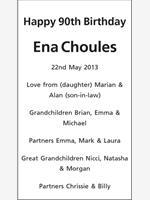 Ena Choules photo