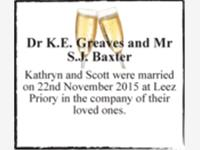 Dr K.E. Greaves and Mr S.J. Baxter photo