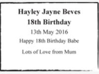Hayley Jayne Beves photo
