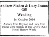 Andrew Sladen & Lucy Jeanne Gill photo