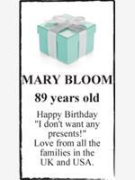 MARY BLOOM  photo