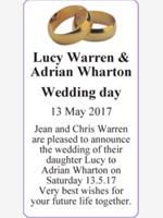 Lucy Warren & Adrian Wharton  photo