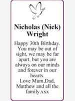 Nicholas (Nick) Wright photo