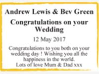 Andrew Lewis & Bev Green photo