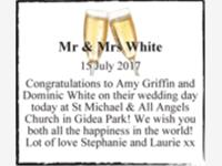 Mr & Mrs White photo