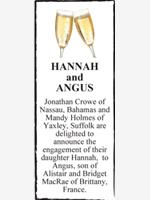 HANNAH         and          ANGUS photo