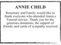 ANNIE CHILD photo