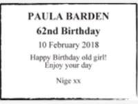 PAULA BARDEN photo
