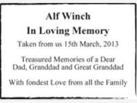 Alf Winch photo
