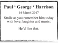 Paul ' George ' Harrison photo