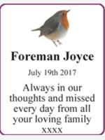 Foreman Joyce photo