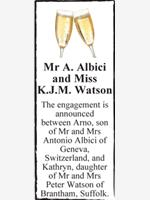 Mr A. Albici and Miss K.J.M. Watson photo