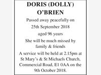 DORIS (DOLLY) O'BRIEN photo