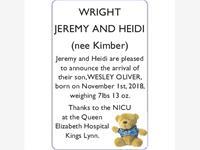 JEREMY and HEIDI (nee Kimber) WRIGHT photo