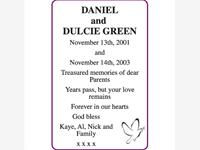 DANIEL and DULCIE GREEN photo
