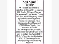 Ann Agnes Taylor photo
