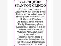 RALPH JOHN STANTON CLINGO photo