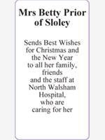 Mrs Betty Prior of Sloley photo
