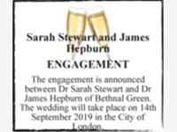 Sarah Stewart and James Hepburn photo