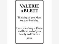 Valerie Ablett photo
