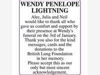 WENDY PENELOPE LIGHTNING photo