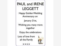 PAUL and IRENE LEGGETT photo