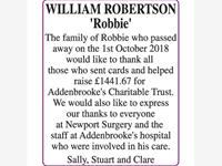 WILLIAM ROBERTSON 'ROBBIE' photo