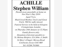 Achille Stephen William photo