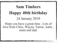 Sam Timbers photo