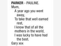 PAULINE PARKER photo