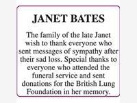 JANET BATES photo