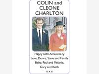 COLIN and CLEONE CHARLTON photo