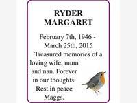 MARGARET RYDER photo