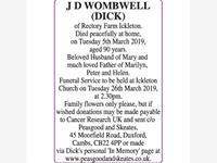 J D WOMBWELL (DICK) photo