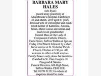 BARBARA MARY HALES photo