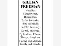 Gillian Freeman photo