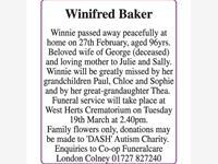 Winifred Baker photo