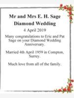 Mr and Mrs E. H. Sage photo