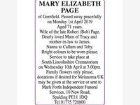 MARY ELIZABETH PAGE photo