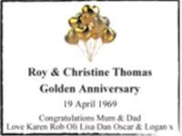 Roy & Christine Thomas photo