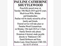 PAULINE CATHERINE SHUTTLEWOOD photo