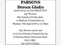 Parsons Doreen Gladys photo
