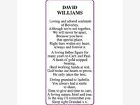DAVID WILLIAMS photo