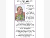 ELAINE ALLEN (Nee Wakefield) photo