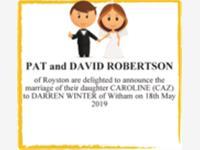 PAT and DAVID ROBERTSON photo