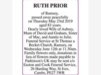 RUTH PRIOR photo