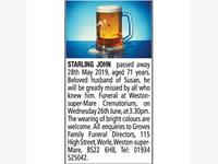 JOHN STARLING photo