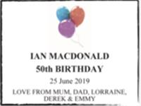 IAN MACDONALD photo