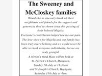 The Sweeney & McCloskey families photo