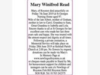 Mary Winifred Read photo